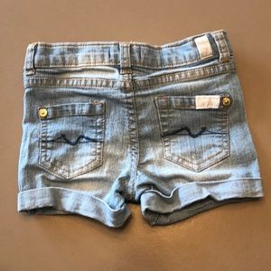 7 for all mankind jean shorts